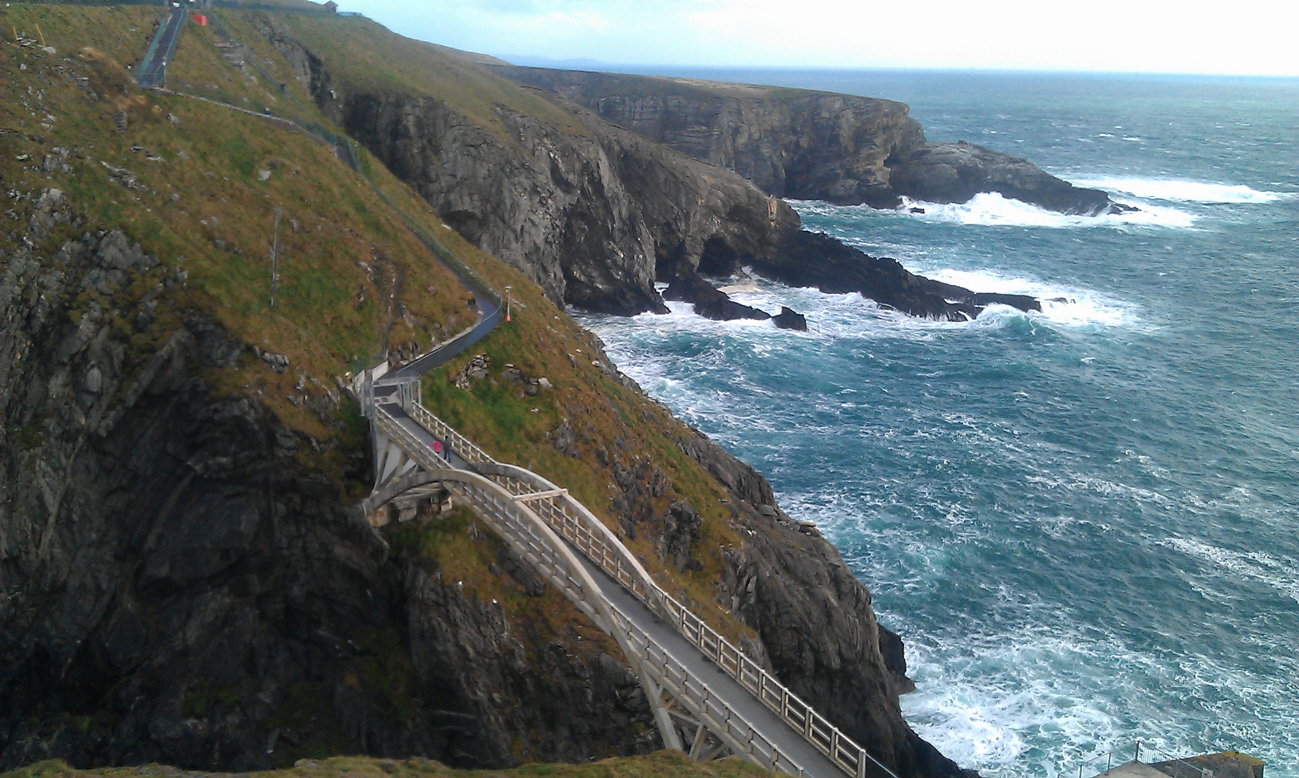 Overlooking the spectacular bridge at Mizen Head-Suzanne Burns