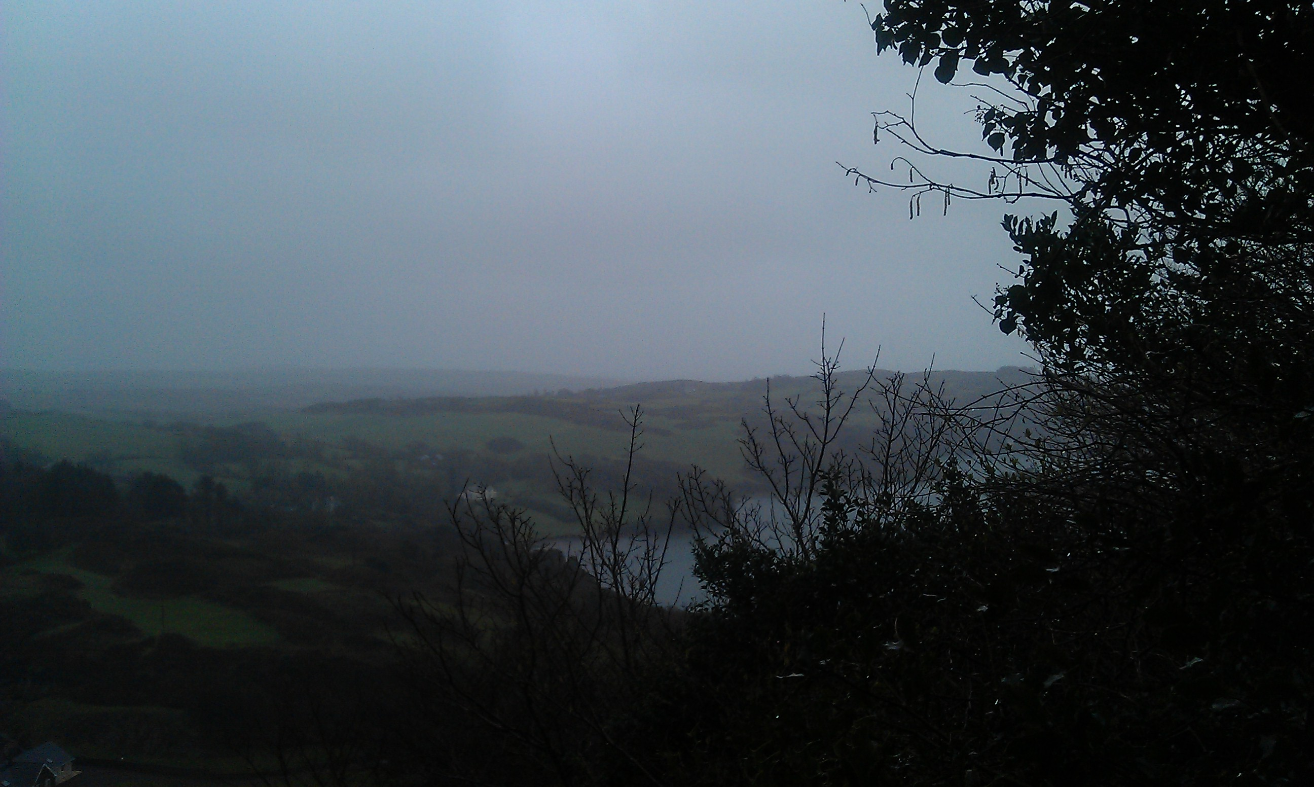 Overlooking a mist encovered Lough
