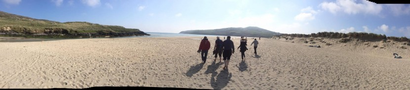 Strolling in the glorious sunshine at Barleycove Beach