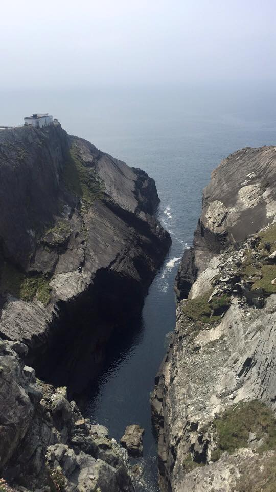 The dramatic cliffs that surround the headland at Mizen Head